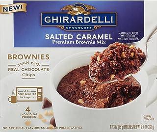 Ghirardelli Chocolate Mug Brownie Mix 9.2 oz ~ 4 pouches per box (Salted Caramel)