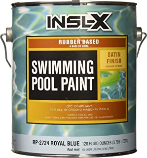 COMPLEMENTARY COATINGS RP2724092-01 INSL-X Royal Blue Rubber-Based Swimming Pool Paint, 1 gallon, Royal Blue