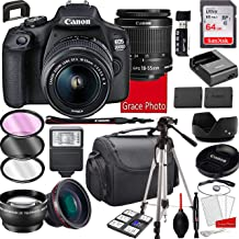 $359 » Canon EOS 2000D (Rebel T7) DSLR Camera with 18-55mm f/3.5-5.6 is II Zoom Lens, 64GB Memory,Case, Tripod and More (28pc Bundle)