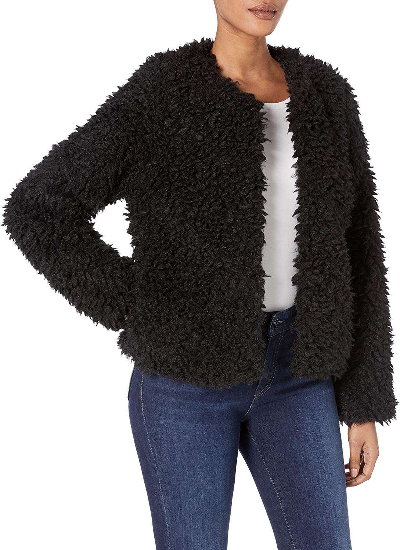 Skinnygirl Women's Bridgehampton Stylish Sherpa Jacket