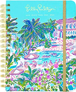 $29 » Lilly Pulitzer Large 2020-2021 Planner Weekly & Monthly, Dated Aug 2020 - Dec 2021, 17 Month Hardcover Agenda with Notes/Address Pages, Stickers, Pocket, Laminated Dividers, Island Hopping Toile