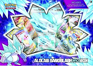 Pokemon TCG: Alolan Sandslash-GX Box | 4 Booster Packs | 1 Foil Promo Card | 1 Oversize Foil Card, Multicolor