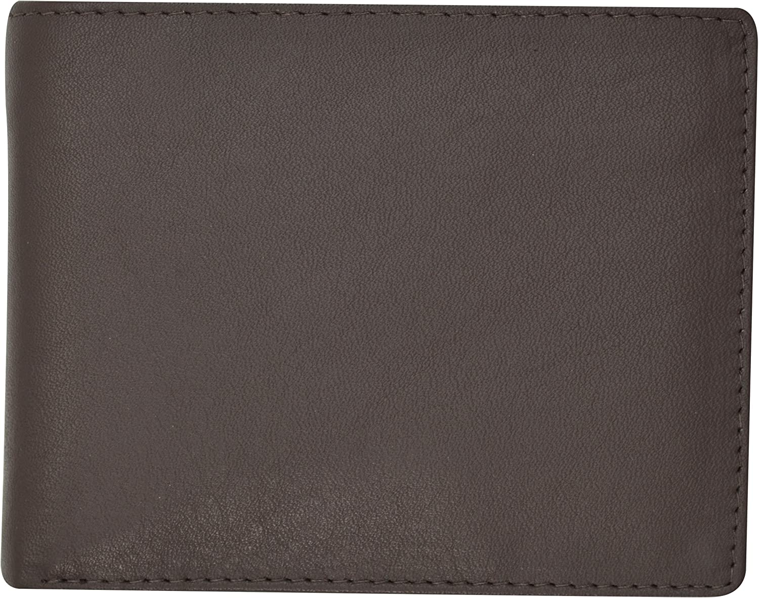 Moga Handmade Genuine Leather Mens Bifold Wallet with Coin Pouch