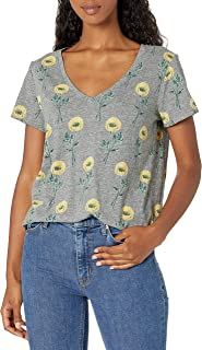 Lucky Brand Women's Short Sleeve V Neck Printed Essential Tee
