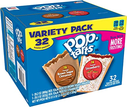 Pop-Tarts Breakfast Toaster Pastries, Flavored Variety Pack, Frosted Brown Sugar Cinnamon,