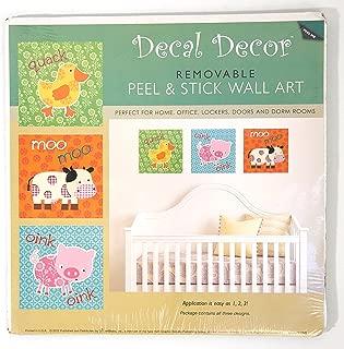 Decal Decor Artbeats Animal Sounds Peel & Stick Wall Art-Quack, Moo Moo, Oink Oink