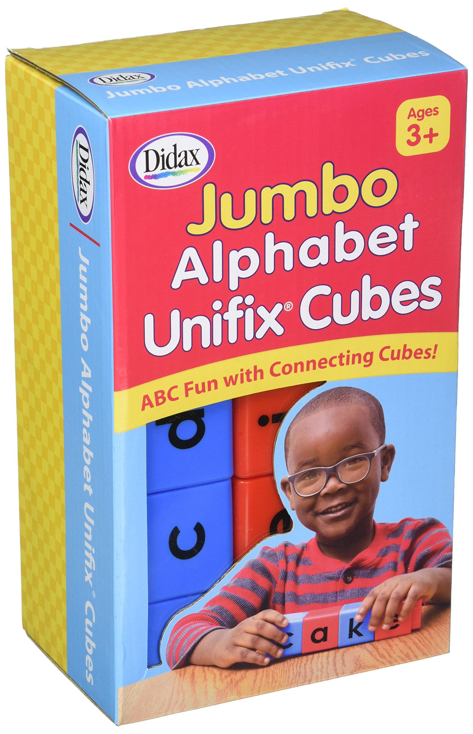211265 Didax Jumbo Alphabet Unifix® Cubes Set of 30