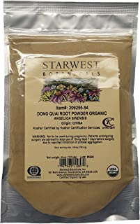 Starwest Botanicals Organic Dong Quai Root Powder, 4 Ounces
