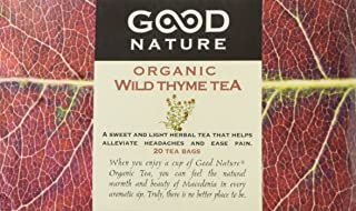 Good Nature Organic Wild Thyme Tea, 20 count, 30 grams