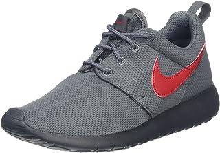 big sale 16579 410a9 Nike Boy s Roshe Run Sneaker (GS) Dark Grey Red