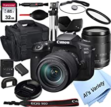 $1329 » Canon EOS 90D DSLR Camera with 18-135mm USM Lens+32GB Card, Tripod, Case, and More (18pc Bundle)