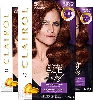 Clairol Age Defy Permanent Hair Color, 5R Medium Auburn, 3 Count