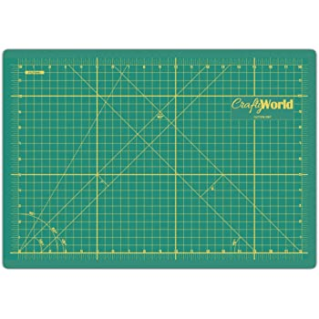 Cutting Mats by Crafty World - Self Healing Mat for Rotary Cutting, Quilting, Sewing - Ideal Fabric Cutting Board - Doesn't Slip, Extra Long Lasting & Easy to Read Markings - 12 x18 Inches