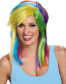 Women's Rainbow Dash Adult Costume Wig