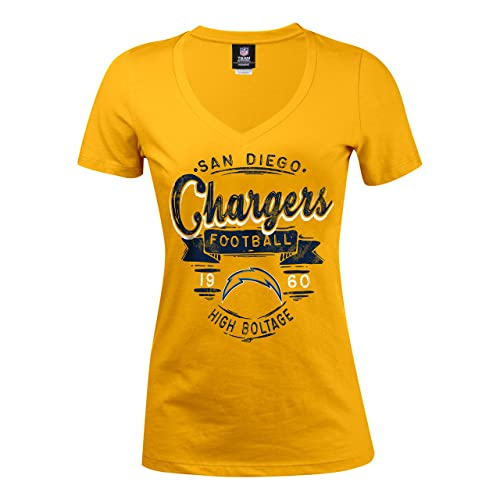 NFL San Diego Chargers Women s Baby Jersey Short Sleeve V-Neck Tee c7690eb14