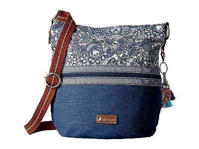 Sakroots Artist Circle Soft Bucket (Navy Spirit Desert) Handbags