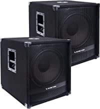 """Sound Town Pair of 15"""" 1800 Watts Powered Subwoofers with Class-D Amplifier, 4-inch Voice Coil (METIS-15SDPW-PAIR)"""