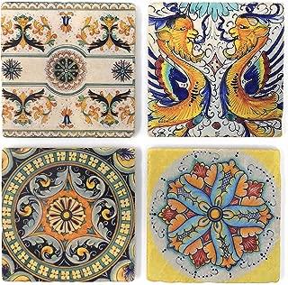 Studio Vertu Arte D'Italia Tumbled Marble Coasters, Set of 4
