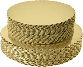 """[25pcs]10"""" Gold Cakeboard Round,Disposable Cake Circle Base Boards Cake Plate Round Coated Circle Cakeboard Base 10inch,Pa..."""