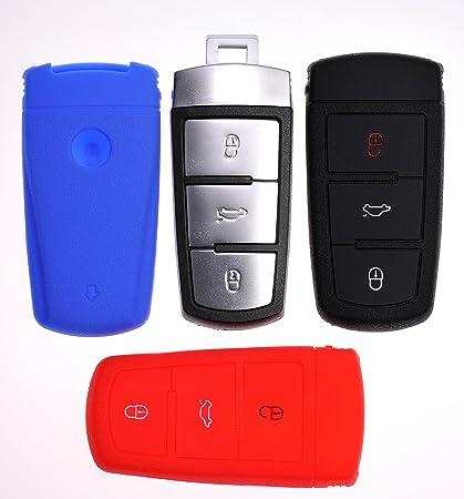 Soft Case Schutz Hülle Auto Schlüssel Dunkelblau Für Vw Elektronik