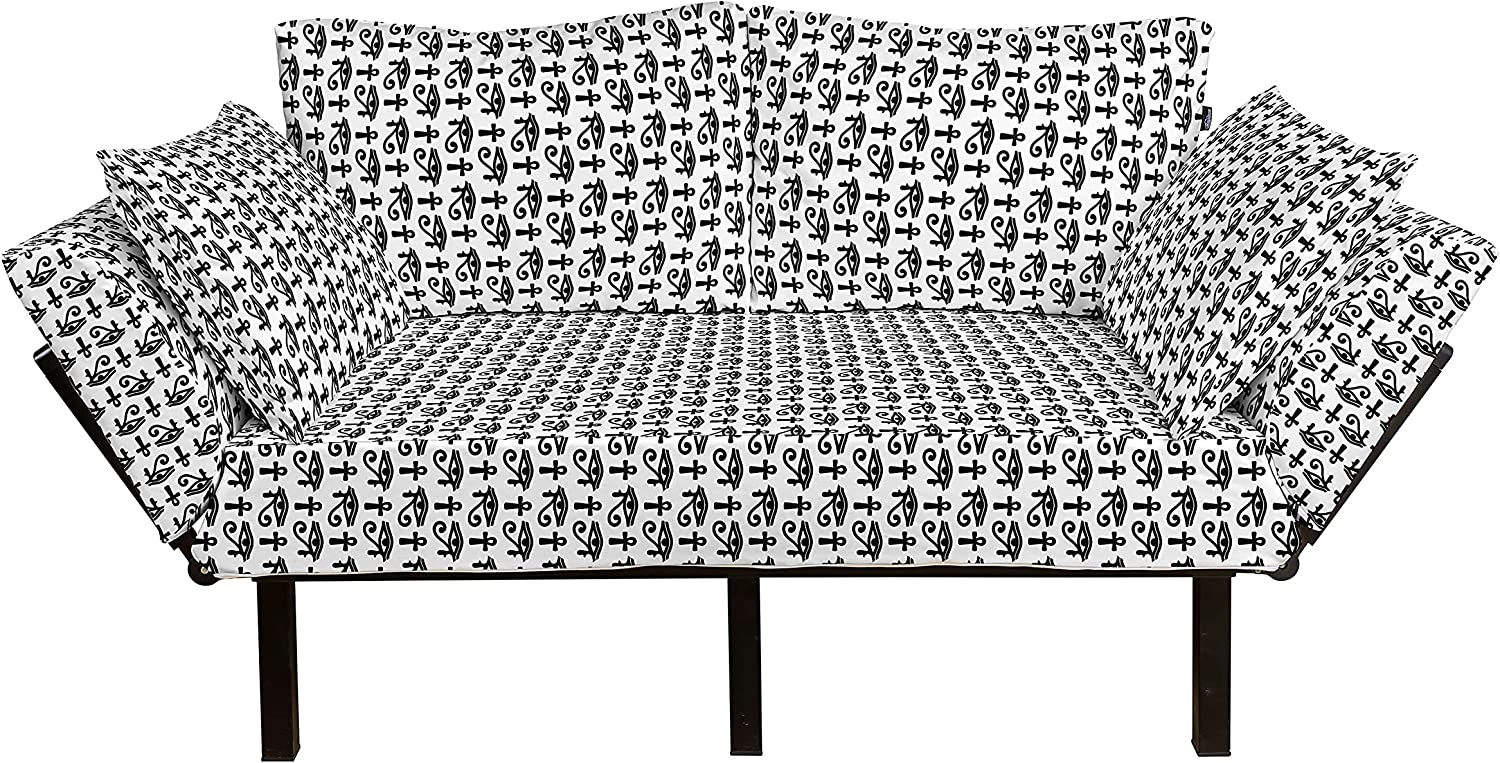 Ambesonne Egyptian Print Futon Patt Challenge the lowest price of Japan ☆ New popularity Couch Hieroglyphic
