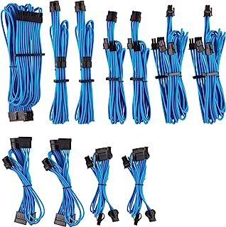 CORSAIR 高级独立袖子 PSU 线缆 Pro 套件 - 蓝色,2 年保修,适用于 Corsair PSU