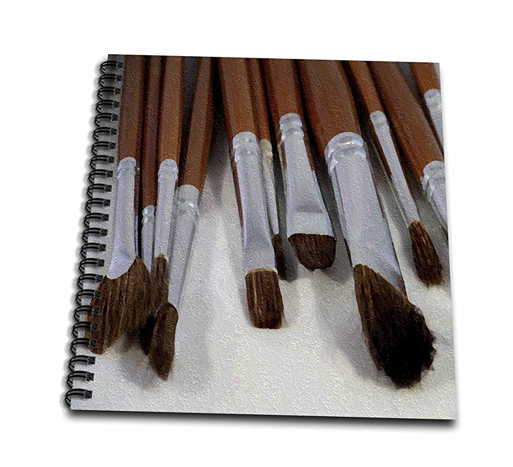 3dRose db_15779_1 Art Brushes 2 Oil Painting-Drawing Book, 8 by 8-Inch