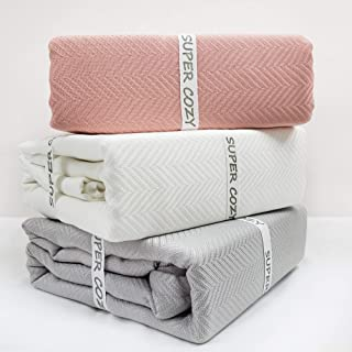 GOHD Golden Ocean Home Decor Super Cozy 100 Percent Bamboo Fiber Blanket. Ultra Softness and smothness Like Silk. Drop Well with Heavy Weight for Anyone You Love (King, Creamy)