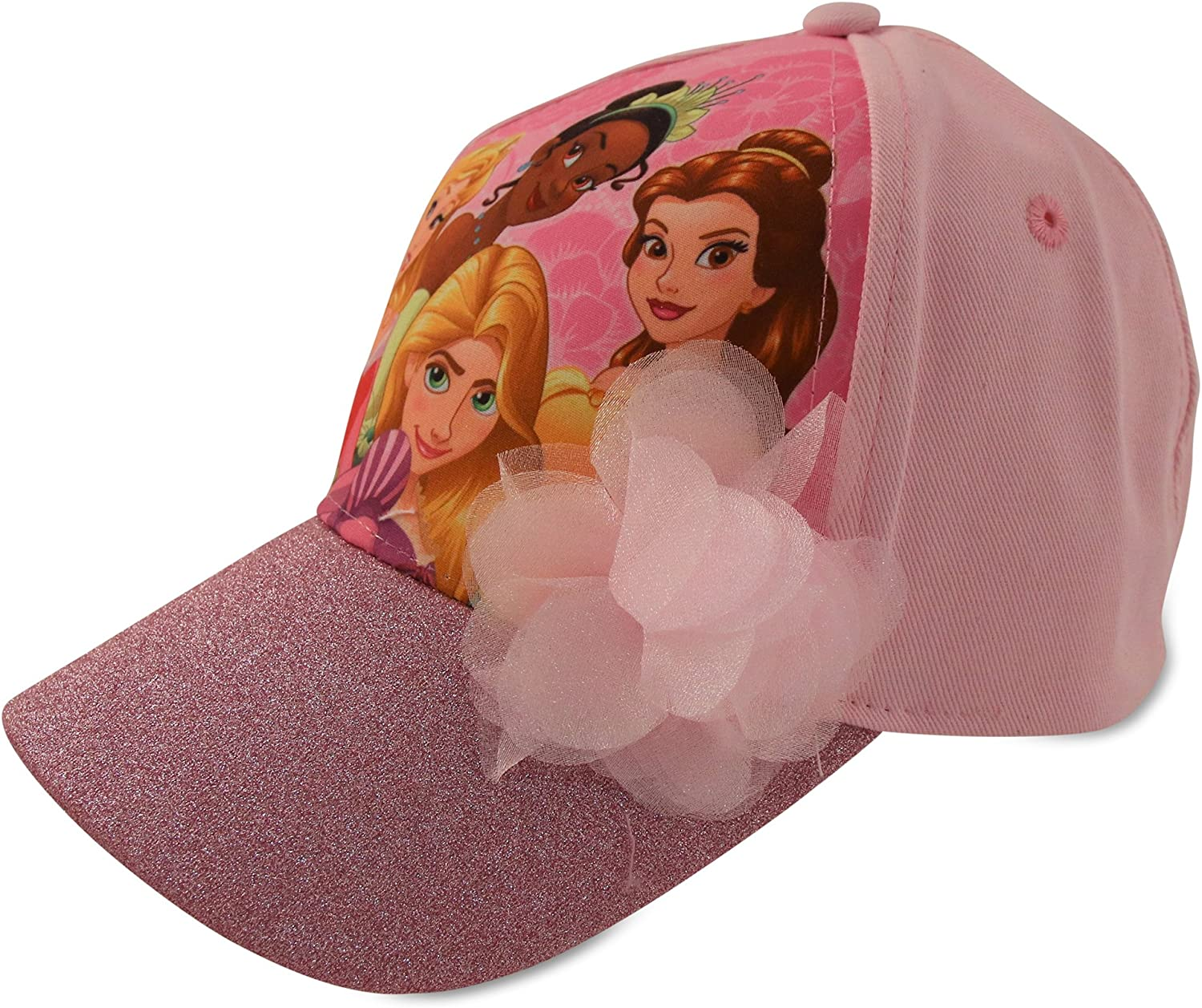 Popular brand in the world Disney Frozen Elsa and Anna Outstanding Cotton Baseball Pom Cap with Glitter