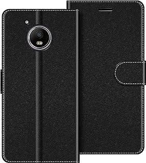 COODIO Funda Motorola Moto G5 Plus con Tapa, Funda Movil Motorola Moto G5 Plus, Funda Libro Motorola Moto G5 Plus Carcasa Magnético Funda para Motorola Moto G5 Plus, Negro
