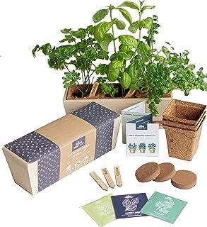 Herb Garden Starter Kit - Grow Live Herbs Indoors from Seed in Your Kitchen or Window - Perfect Gardening Gift - Indoor Ga...