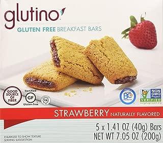 Glutino, Gluten Free, Strawberry Breakfast Bars, 7.05oz Box (Pack of 6)