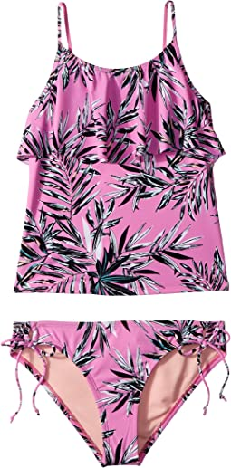Sahara Palms Ruffle Tankini & Adjustable Hipster Set (Big Kids)