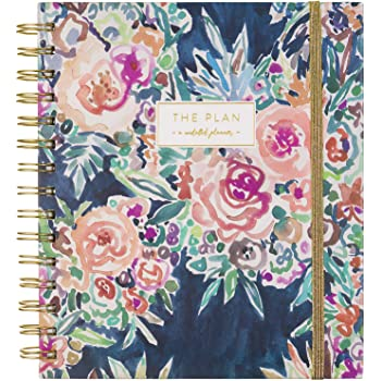 Eccolo Spiral Bound Undated Planner, Weekly & Monthly Calendar, Hardcover, Barbarian Collection