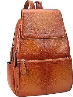 Heshe حقيبة ظهر جلدية للنساء حقيبة يومية كاجوال حقيبة موضة للسيدات