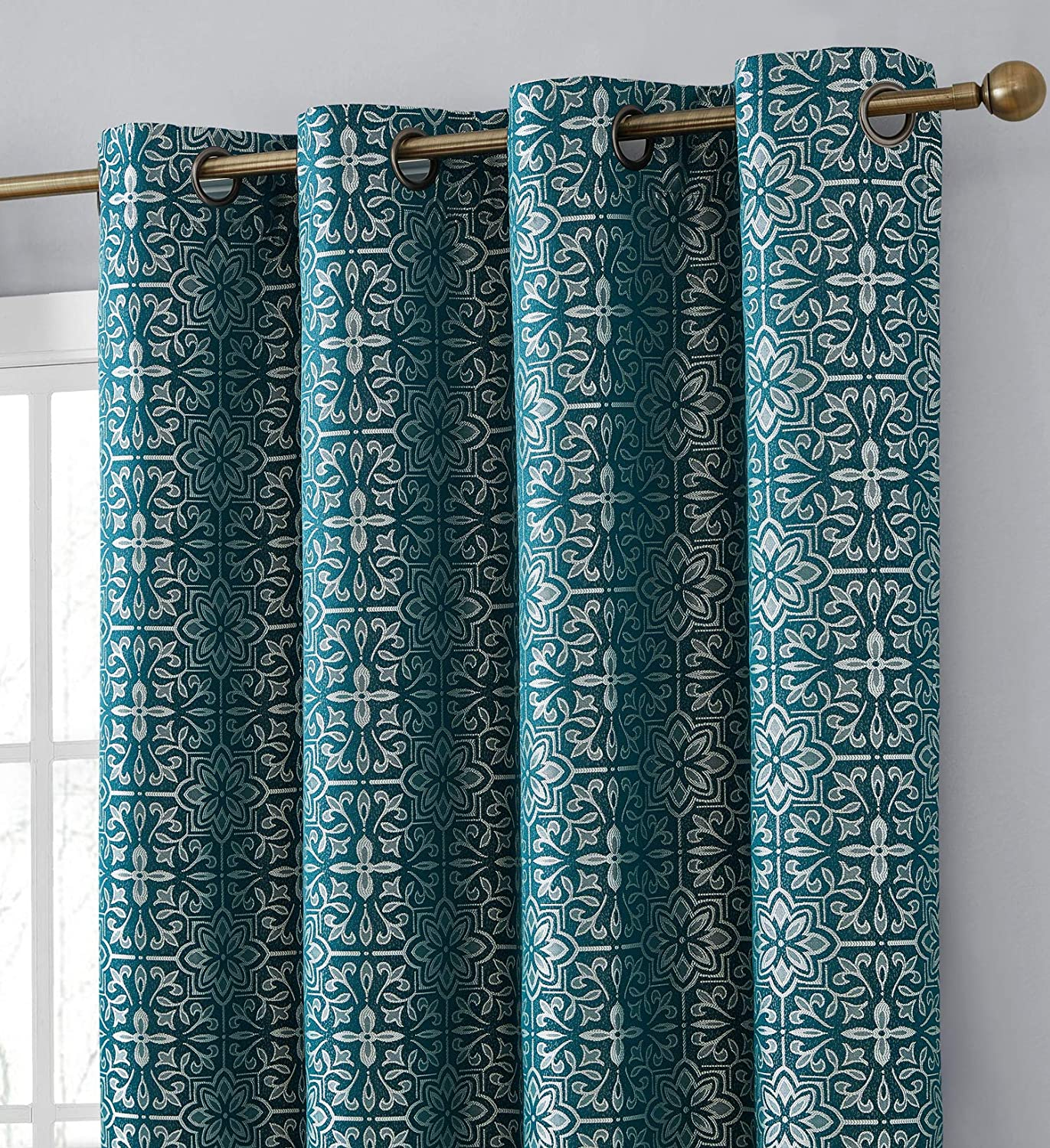 HLC.ME Mia Moroccan Tile 100% Thermal Blackout Complete Super sale Credence Shading