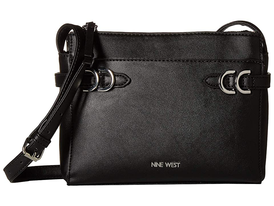 Nine West Brigida Crossbody (Black) Cross Body Handbags