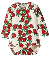 mini rodini - Rose Long Sleeve Bodysuit (Infant)
