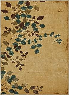 Mohawk Home Soho Plum Vine Floral Printed Area Rug, 5'x7', Beige