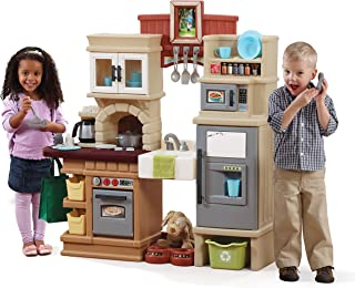 Step2 Heart of The Home Kitchen | Large Play Kitchen with Play Food | Over 40 Kitchen Accessory Toys Included