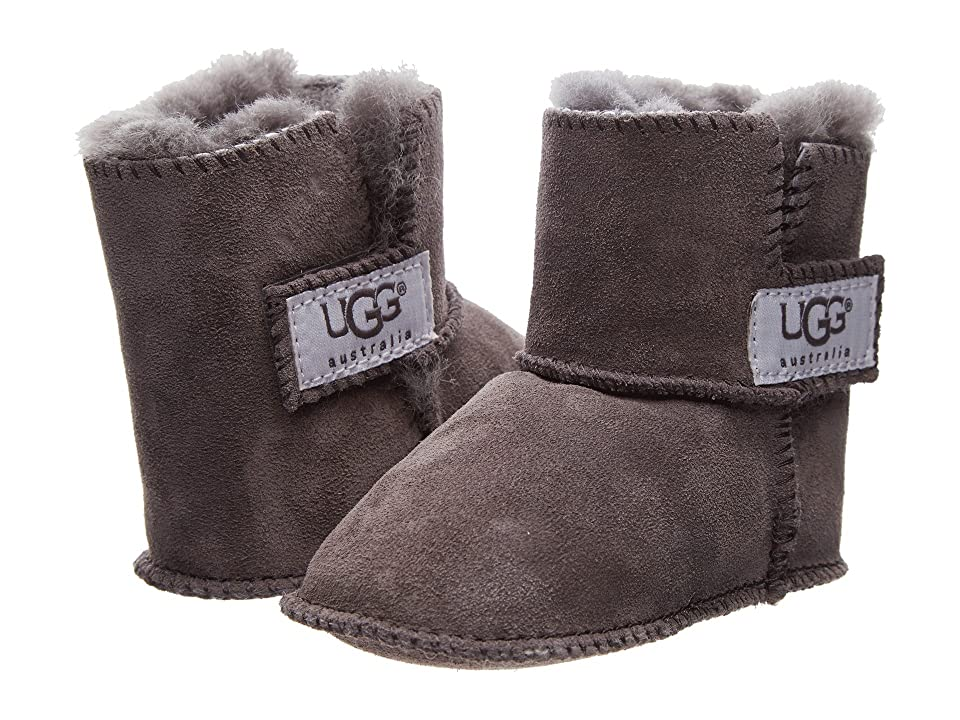 UGG Kids Erin (Infant/Toddler) (Charcoal) Girls Shoes, Gray