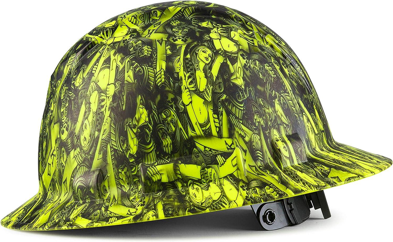 Full Brim Customized Pyramex Hi 評判 Vis お求めやすく価格改定 Hat Custom Lime Hard Queen