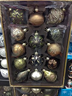 Glass Ornaments Hand Painted 14 Pcs