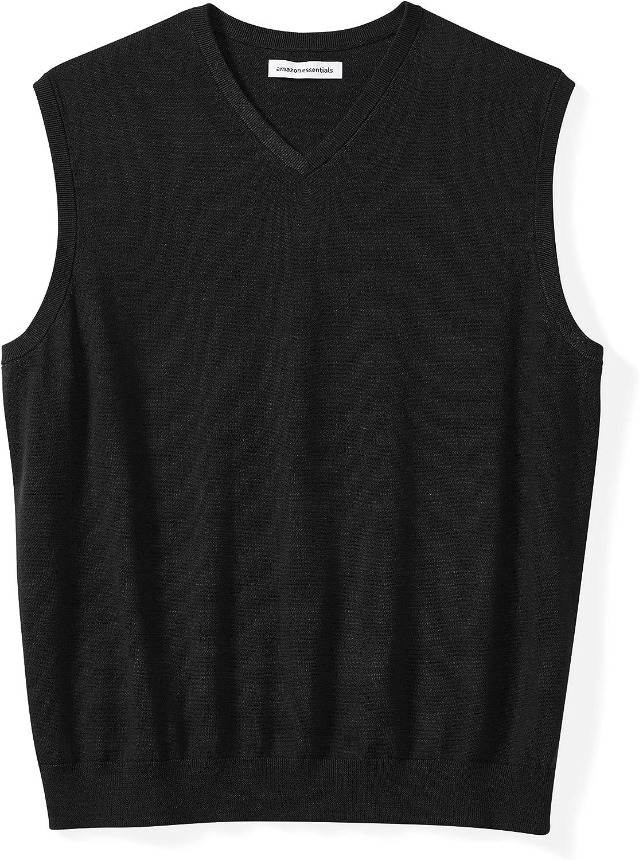 Amazon Essentials Men's Big & Tall V-Neck Sweater Vest fit by DXL