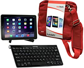 Navitech Converter Pack Including Multi OS Wireless Bluetooth Keyboard / Red Case Bag & Portable Stand For The Samsung ATIV Tab 3 / Samsung ATIV 10.1 / Samsung ATIV Tab 7 / Samsung ATIV Smart PC Pro 700T / Samsung Galaxy Tab Pro 12.2 / Samsung Galaxy Note Pro 12.2