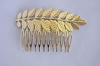 Peineta dorada con adorno de hojas. Envío GRATIS 72H