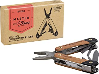 Gentlemen's Hardware 12-1 Plier Multi-Tool with Wood Handles & Titanium Coated Stainless Steel Tools