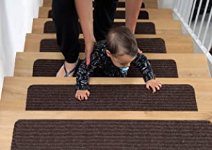 EdenProducts Patent Pending Non Slip Carpet Stair Treads, Set of 15, Rug Non Skid Runner for Grip and Beauty. Safety Slip Resistant for Kids, Elders, and Dogs. 8