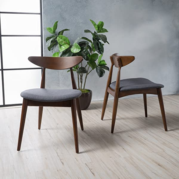 Christopher Knight Home 299971 Barron Dining Chair Set Of 2 Charcoal