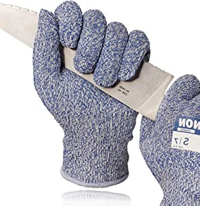 LANON Food Grade Cut Resistant Gloves, Cutting Gloves for Kitchen , High Performance New Level C Protection, Oyster Shucking, Medium